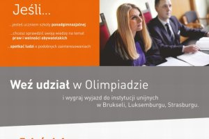 Olimpiada wiedzy o prawach i wolnościach obywatelskich