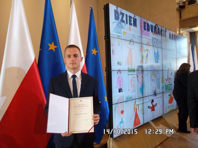 Mirosław Bułat otrzymał stypendium Premiera